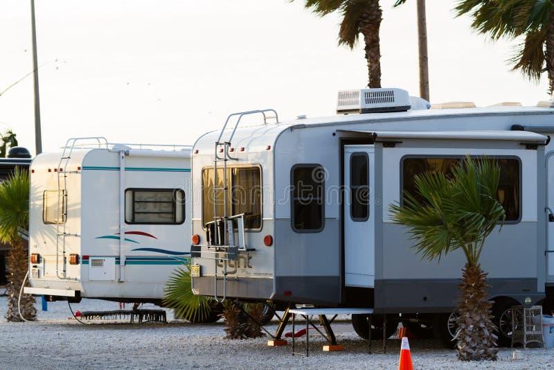 Место для лагеря RV стоковая фотография