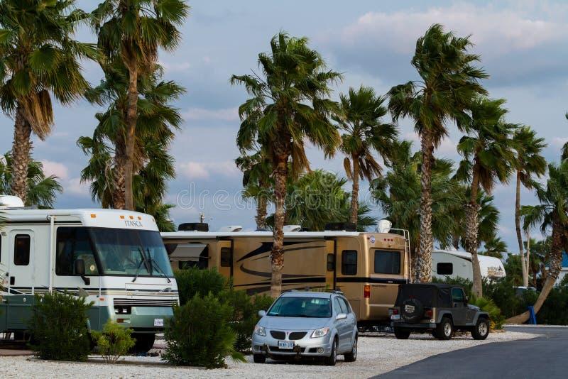 Место для лагеря RV стоковые фотографии rf