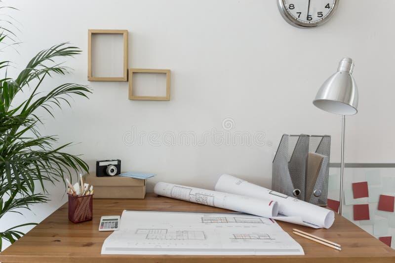 Место для работы творческого дизайнера стоковое изображение rf