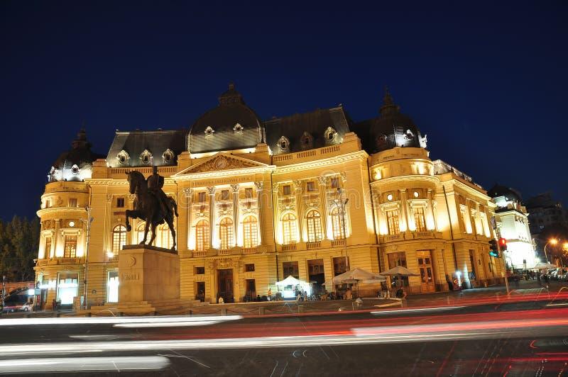 Место 3 ночи Бухарест стоковые изображения