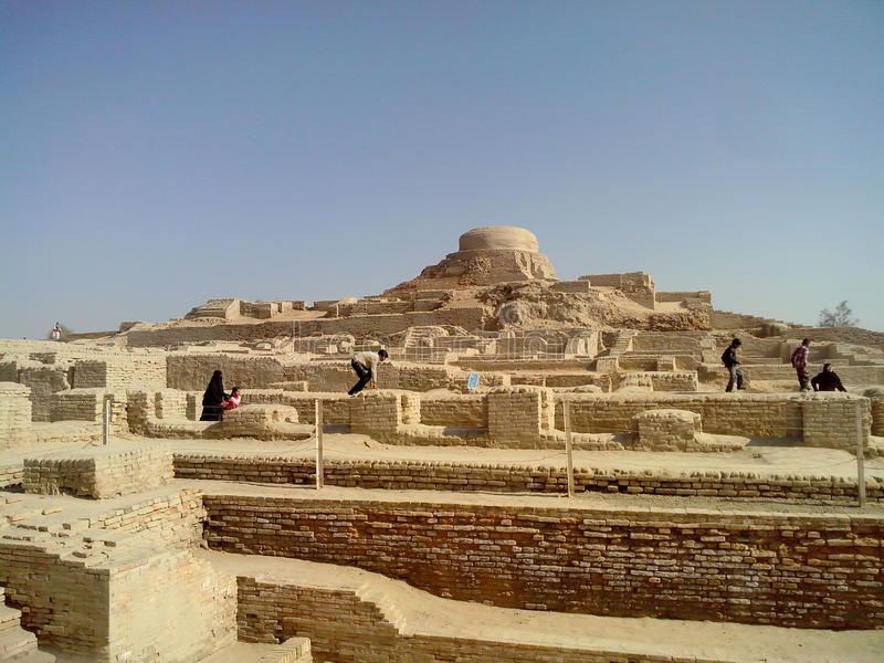Место daro Mohenjo стоковая фотография rf