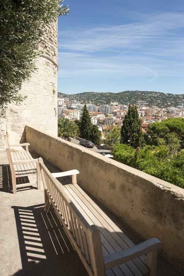 Место de Ла Castre в Канн, Франции стоковое изображение rf