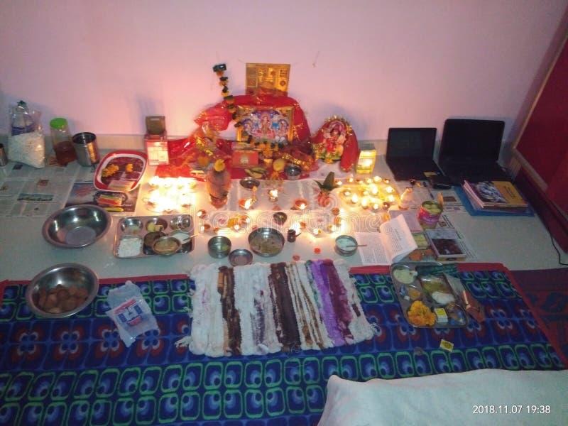 Место Diwali поклонению празднует стоковые фото