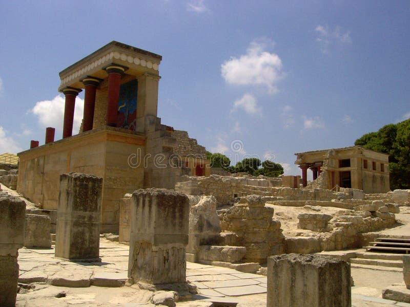 место knossos Крита minoan стоковое изображение rf