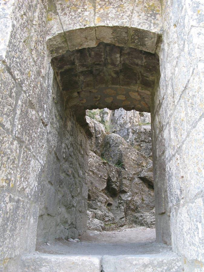 место peyrepertuse Франции замка стоковая фотография rf