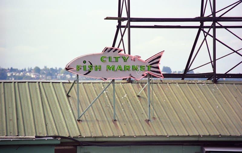 место seattle щуки рынка стоковое фото rf