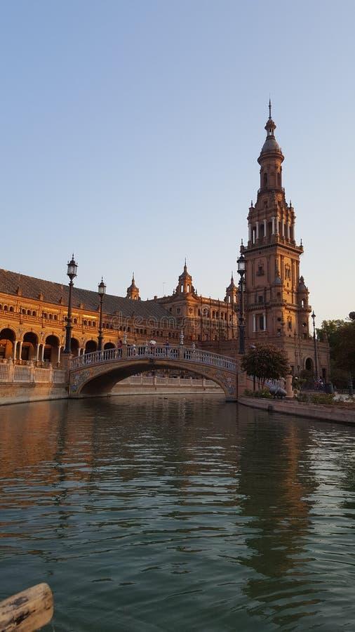 Место sevilla Испании моста стоковое фото