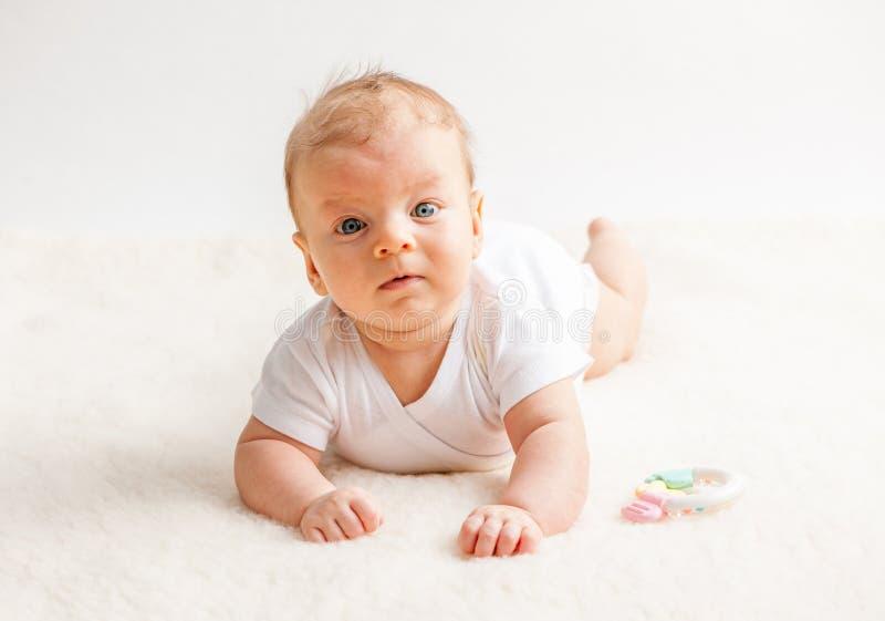 2 месяца старого младенца стоковая фотография rf