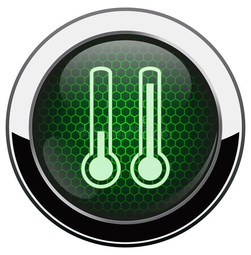Металлическая икона термометра иллюстрация штока