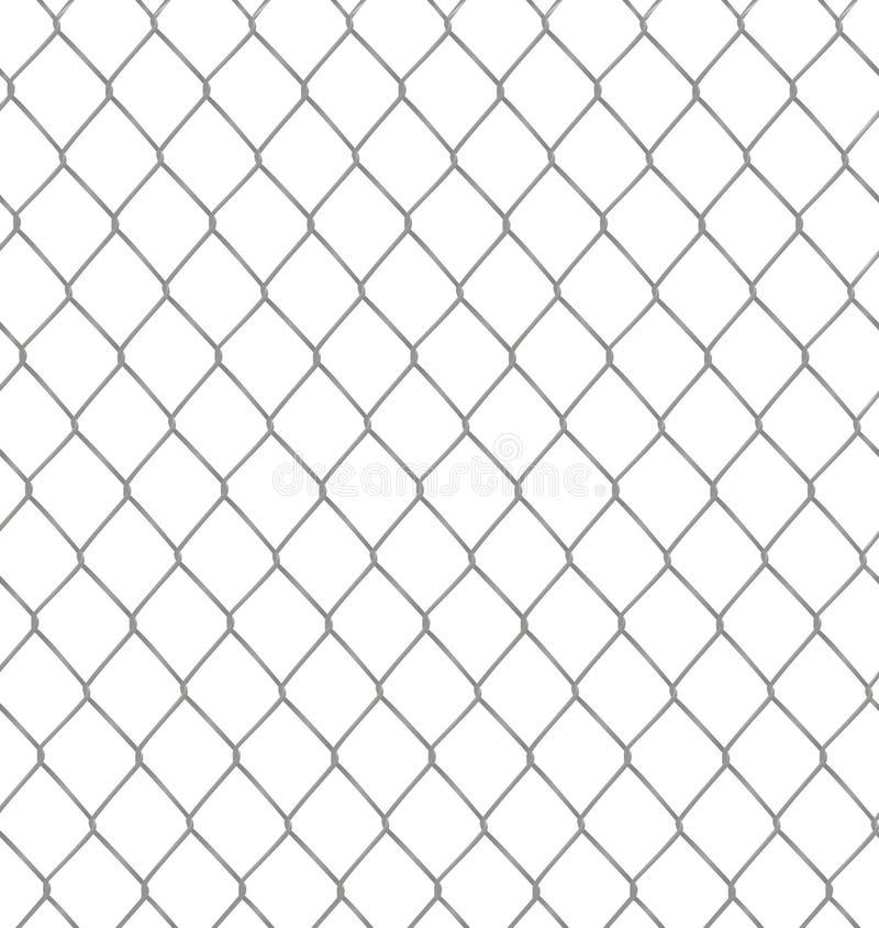 Металлическая цепная загородка иллюстрация вектора