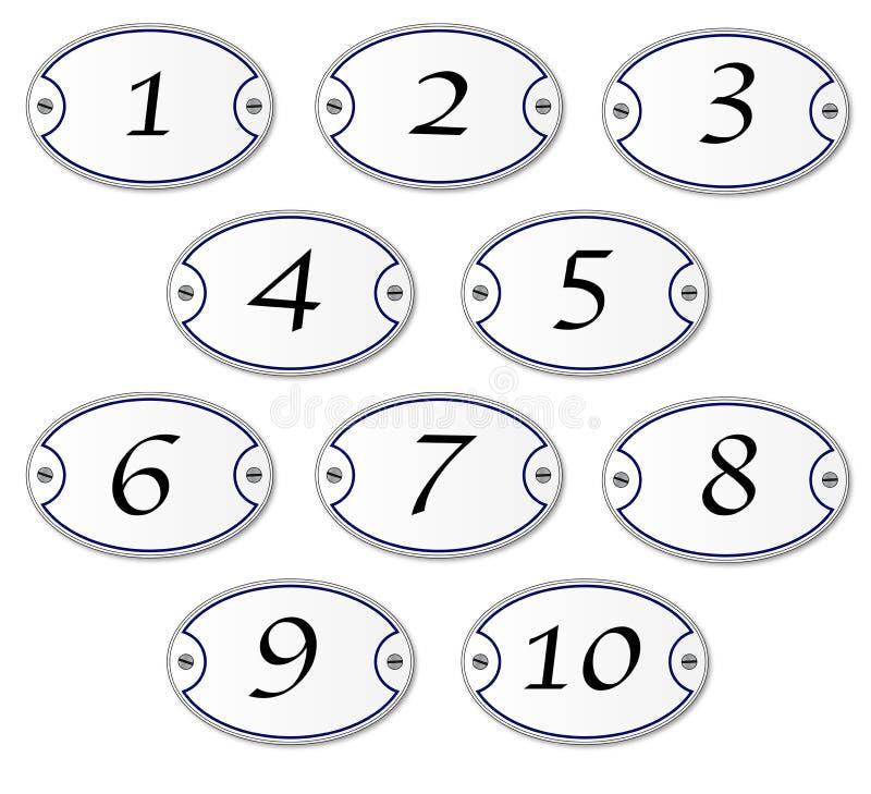 Металлические пластинкы номера иллюстрация штока