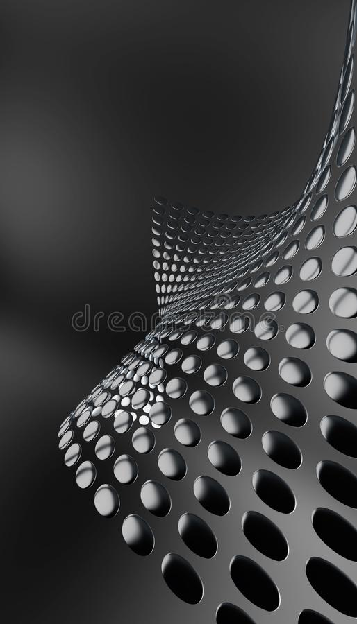 металлические плиты округлили иллюстрация вектора