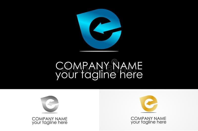 Металлический логотип письма e бесплатная иллюстрация
