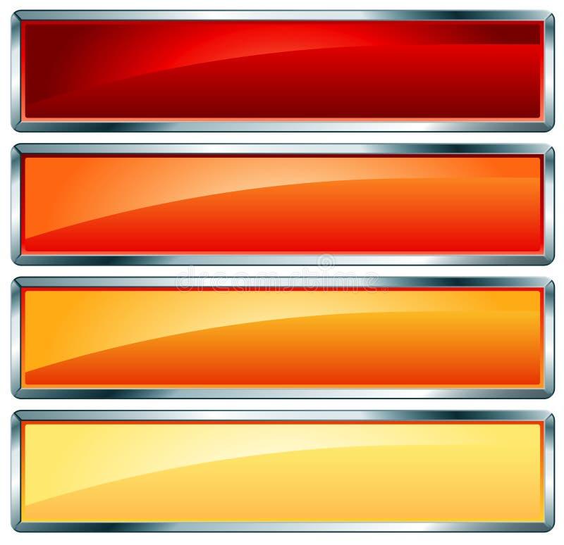 металлическое рамки горячее иллюстрация вектора