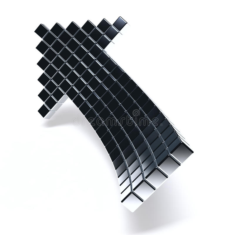 металлическое стрелки темное иллюстрация штока