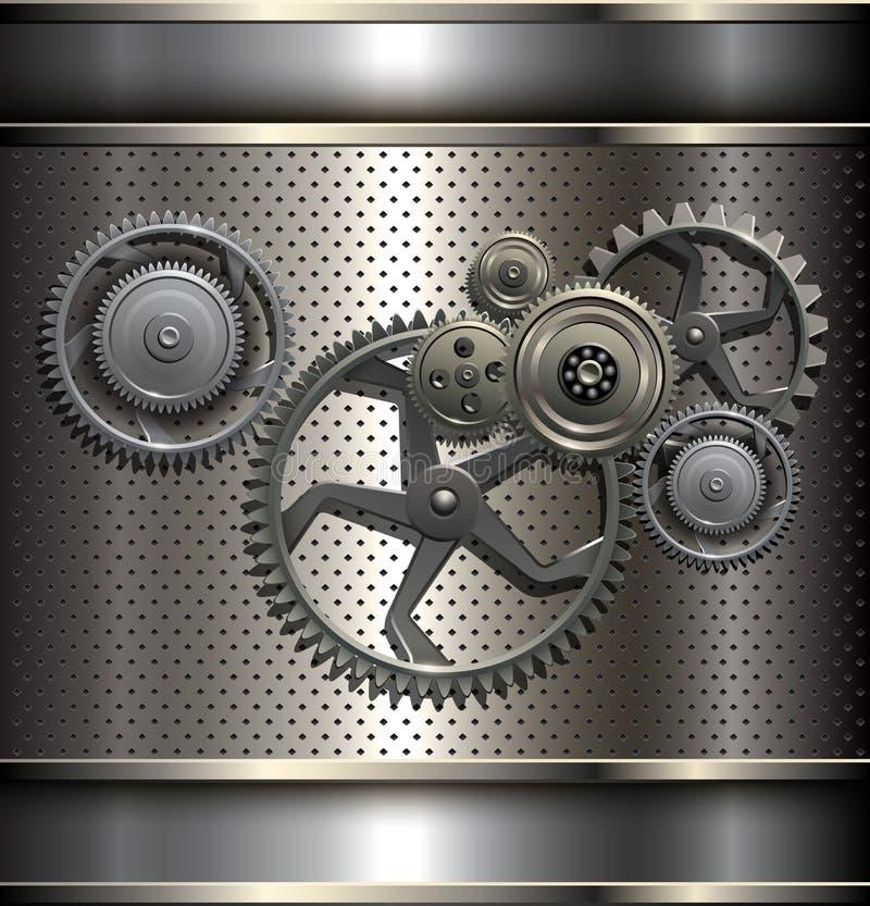 Металлическо, предпосылка технологии иллюстрация штока