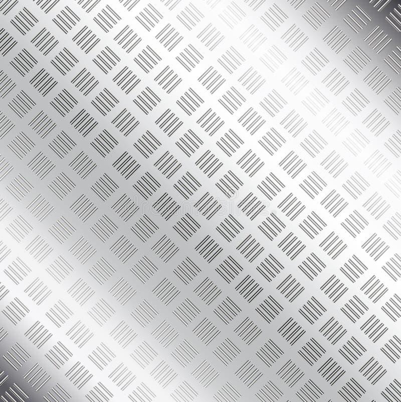 Металлопластинчатая предпосылка текстуры иллюстрация вектора