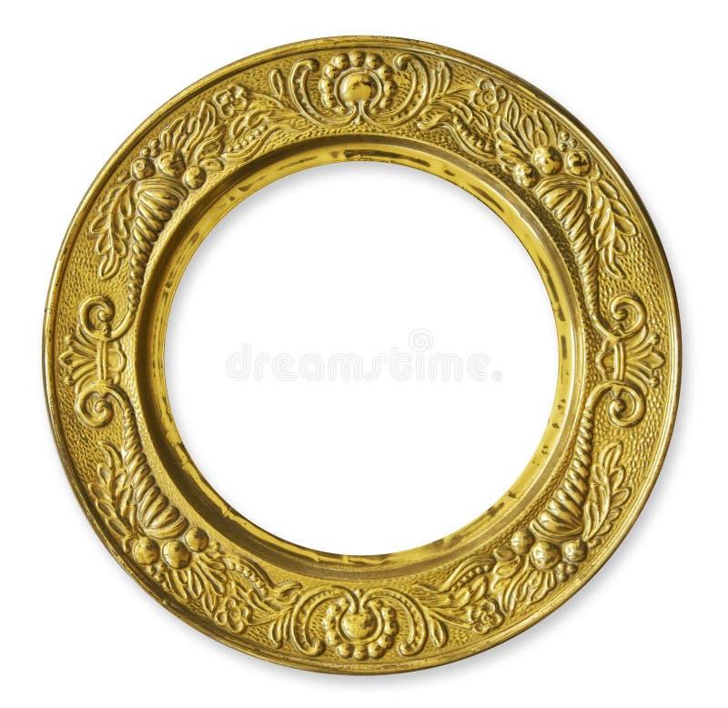 металл золота рамки круга стоковая фотография