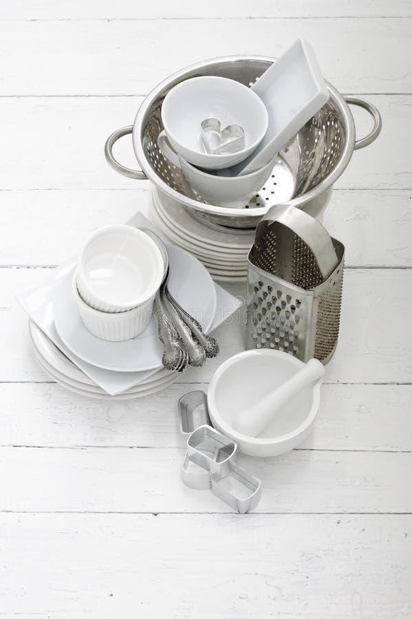 металл керамических тарелок стоковое изображение