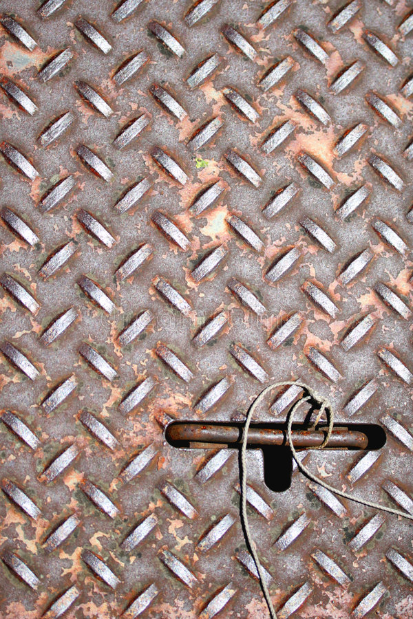 металл люка стоковая фотография