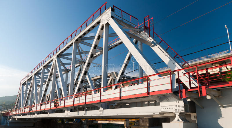металл моста стоковая фотография