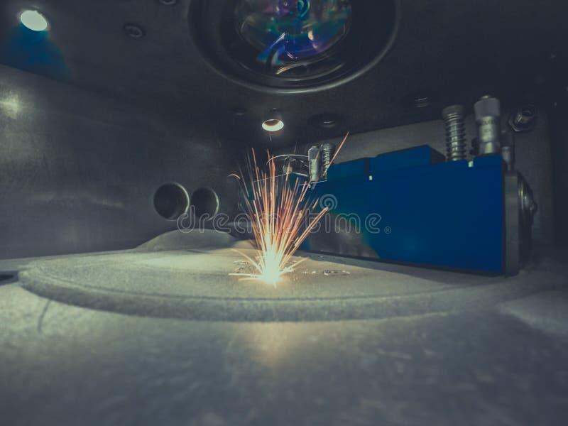 металл печатания принтера 3D o стоковое фото rf