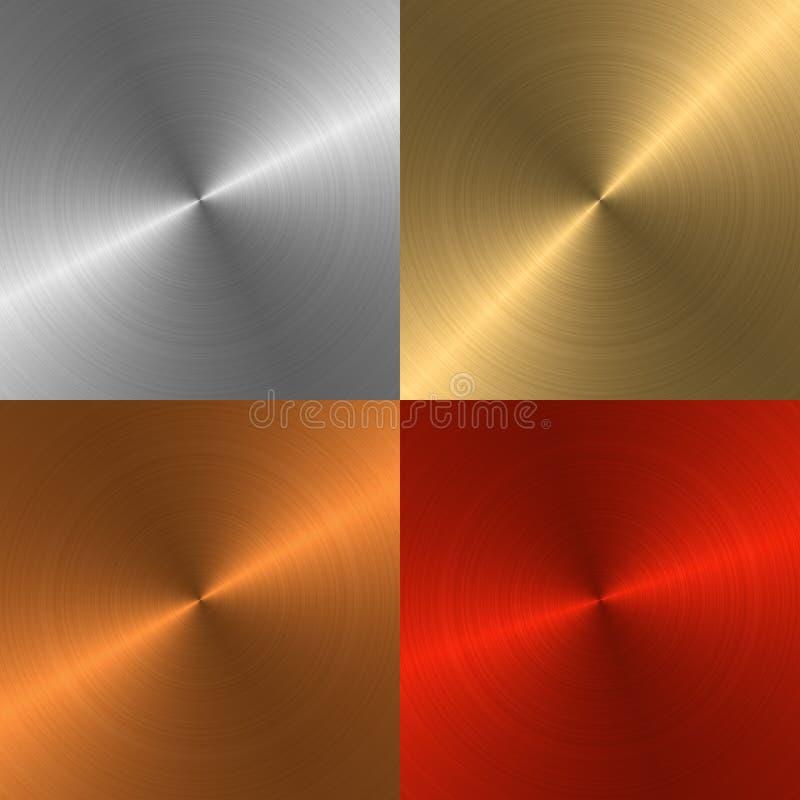 металл предпосылок 4 иллюстрация вектора