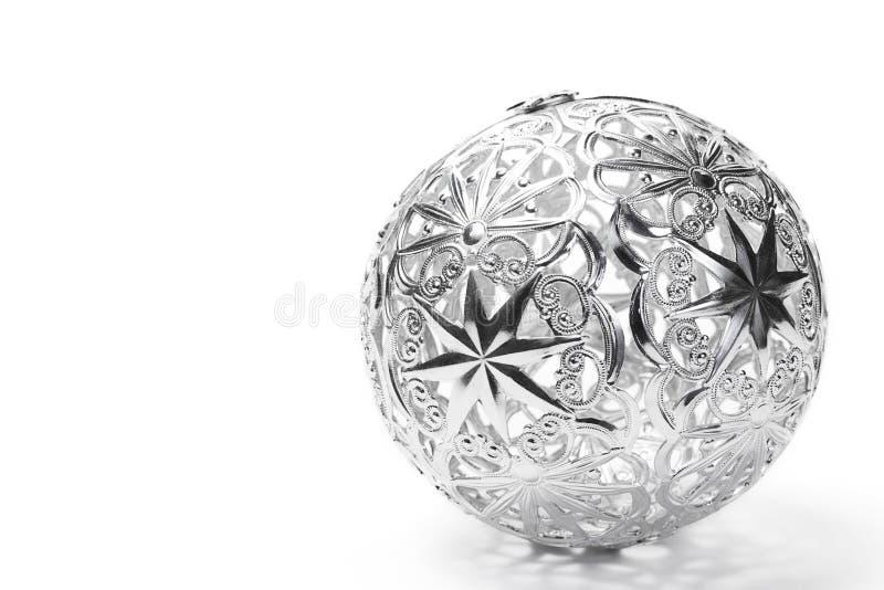 металл рождества шарика стоковое фото