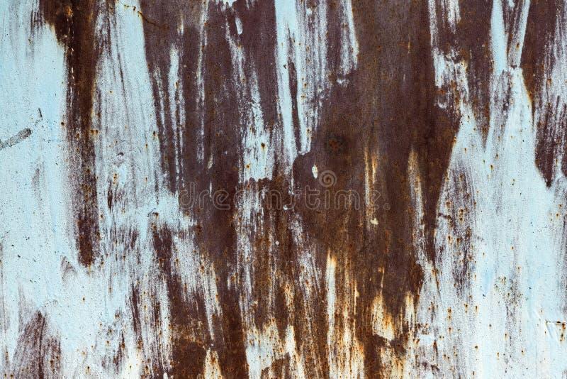 Металл текстуры старый ржавый неровно покрашенный стоковая фотография rf
