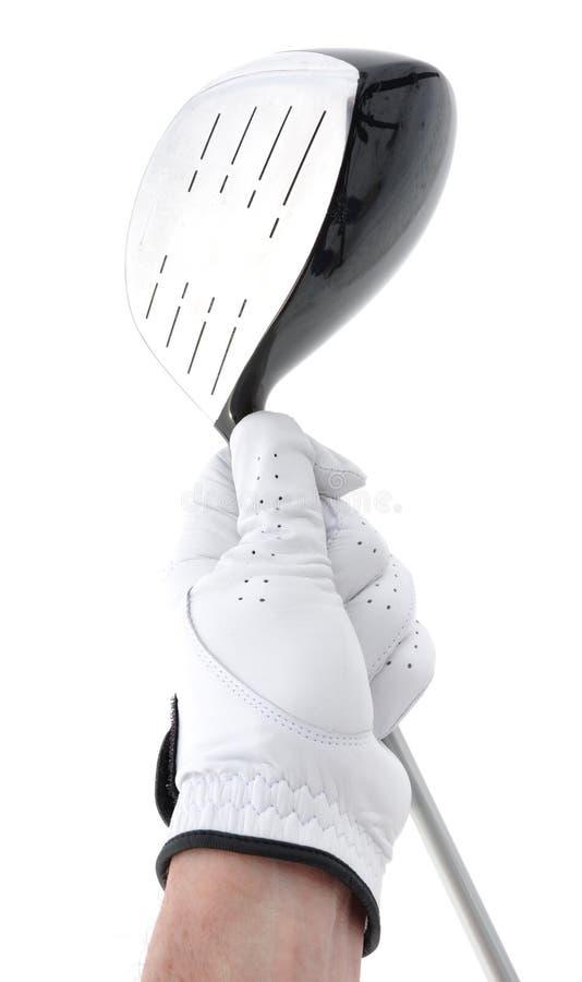 металл удерживания игрока в гольф водителя стоковая фотография