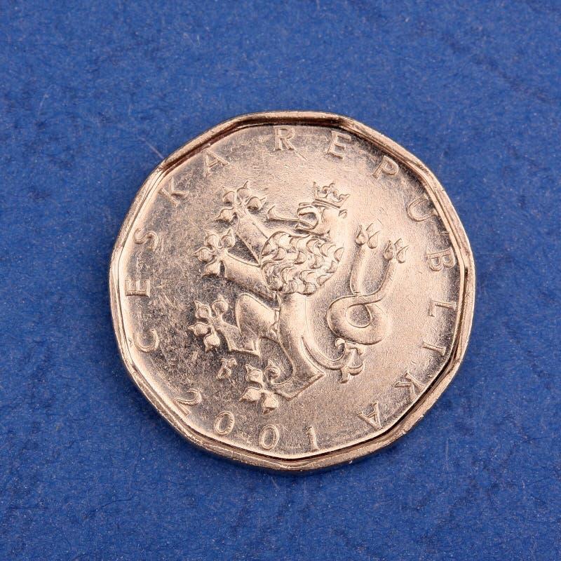 металл чеха монетки стоковые изображения