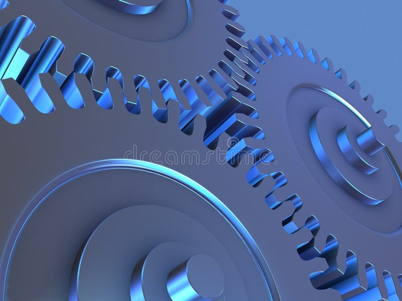 металл шестерен иллюстрация вектора