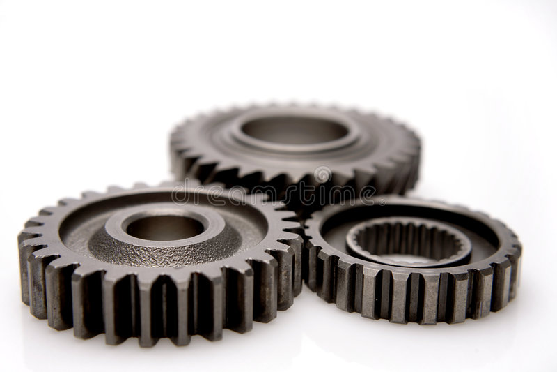 металл шестерен стоковое изображение