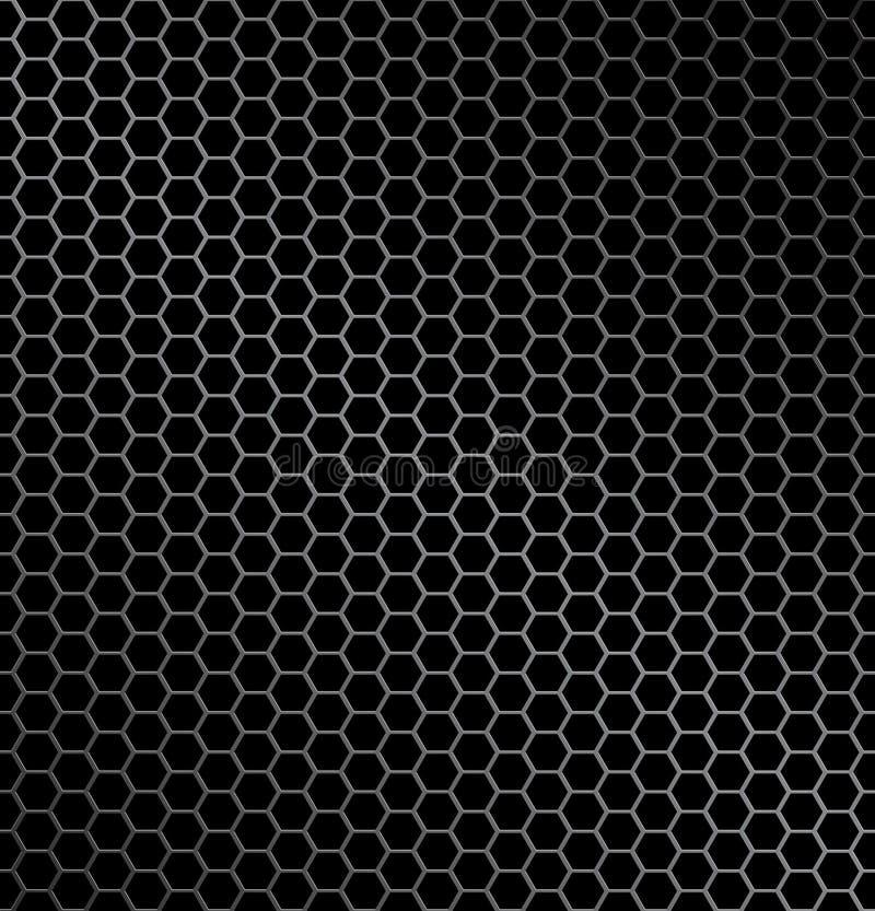 металл шестиугольника предпосылки иллюстрация штока