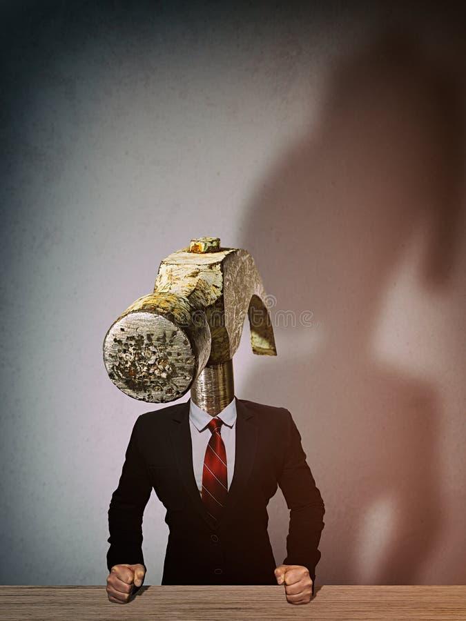Метафора сердитого босса стоковые изображения