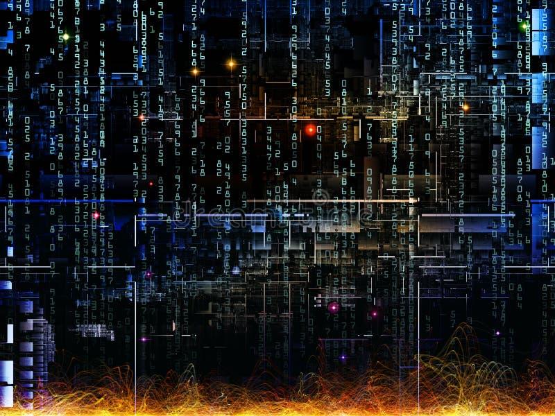 Метафоричная цифровая сеть иллюстрация вектора