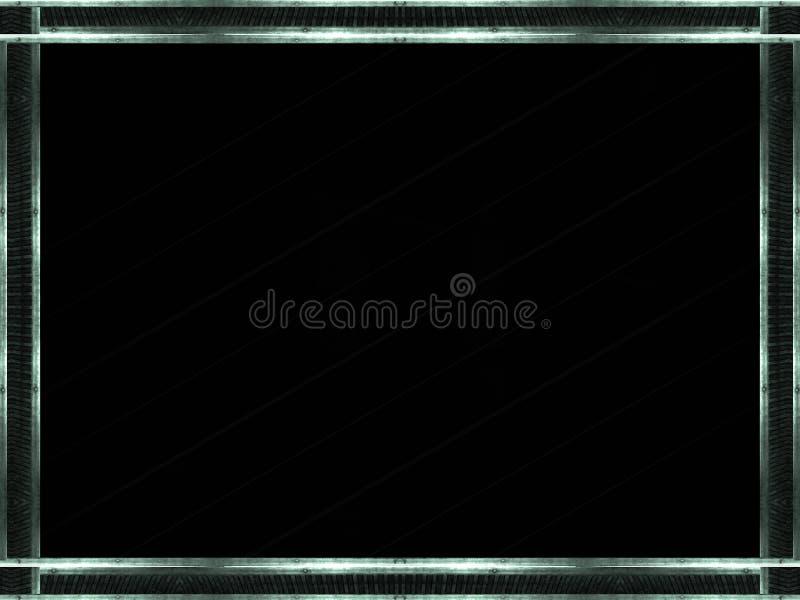 Металлическая предпосылка границ иллюстрация штока