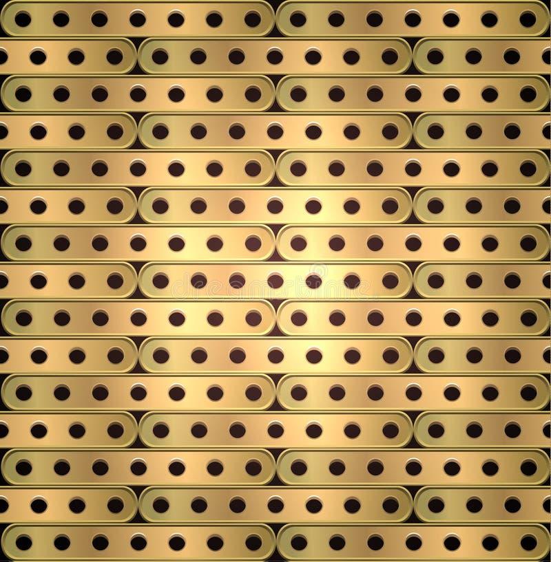 Металлическая предпосылка длинных плит с отверстиями в стиле steampunk бесплатная иллюстрация