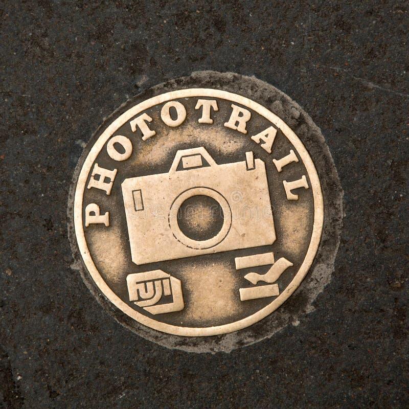 Металлическая пластинка Фудзи Phototrail стоковое изображение
