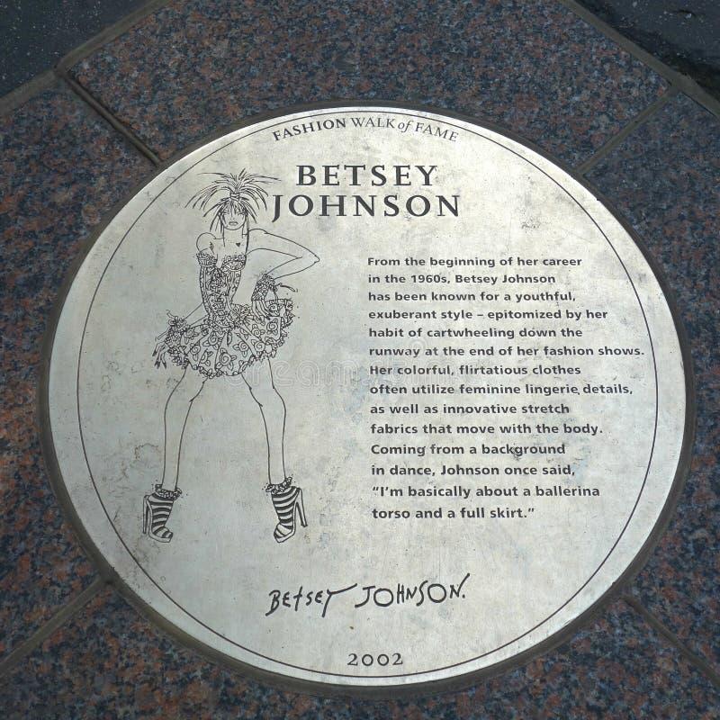 Металлическая пластинка Betsey Джонсона стоковое изображение rf