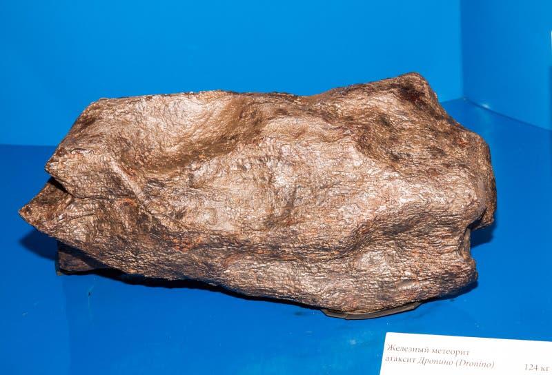 Металлический железный метеорит стоковые изображения rf