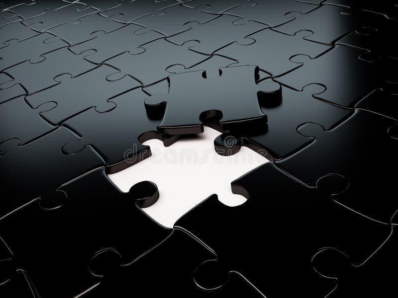 Металлический неуместный 3d головоломки представляет иллюстрация вектора