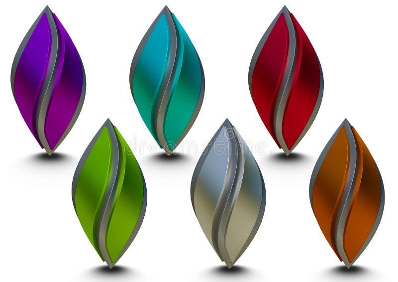 металлический логотип 3D иллюстрация штока