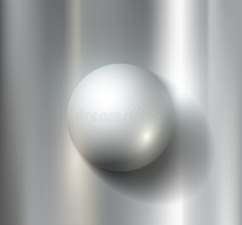 Металлический шар иллюстрация вектора