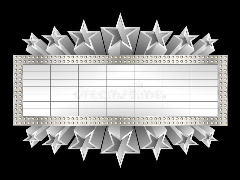 Металлическое знамя иллюстрация штока