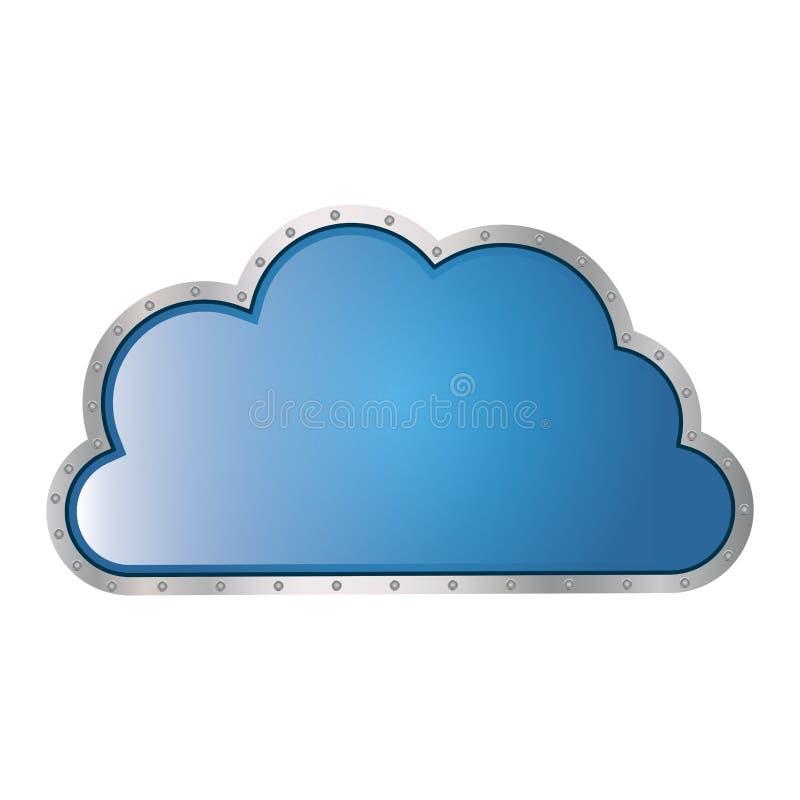 металлическое tridimensional облака в форме кумулюса иллюстрация штока