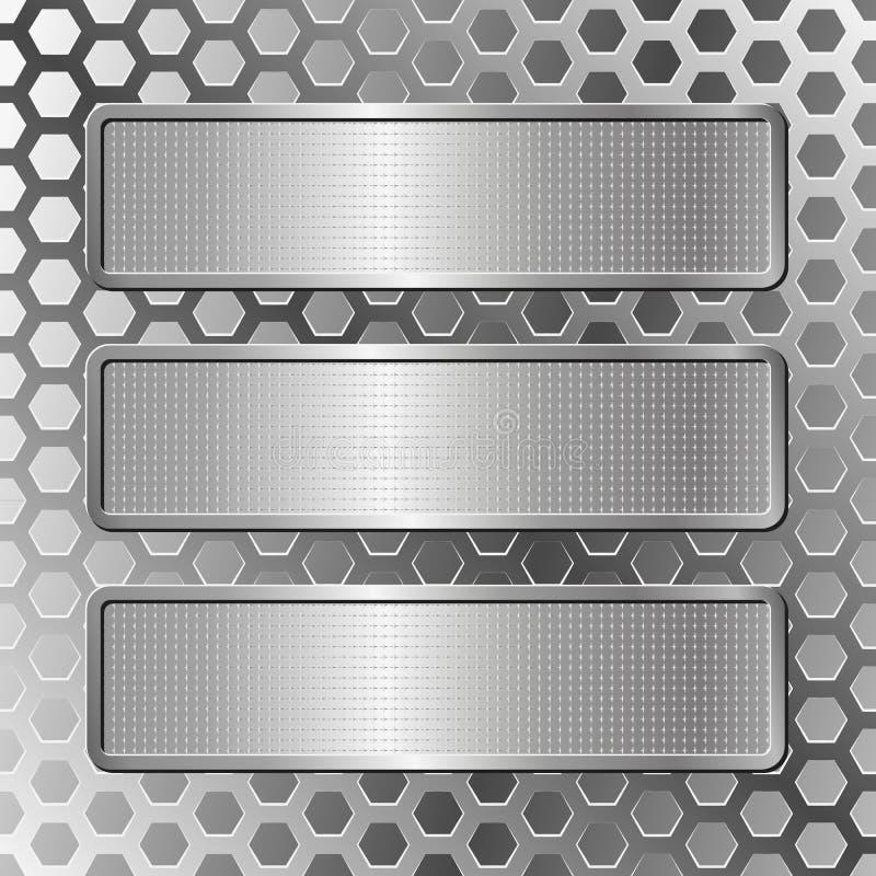 3 металлической пластинкы бесплатная иллюстрация