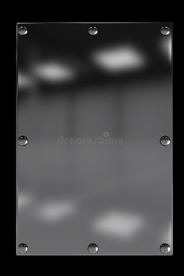 Металлопластинчато с заклепками иллюстрация вектора