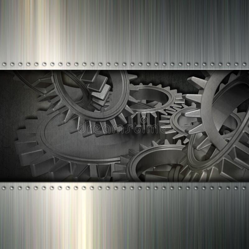 Металл Grunge зацепляет предпосылку иллюстрация вектора