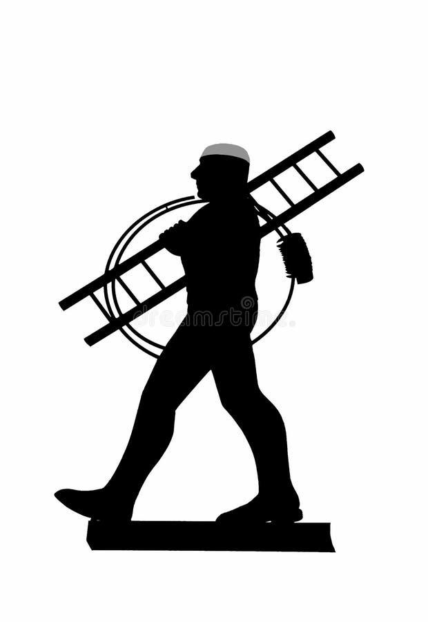 метельщик печной трубы стоковое изображение